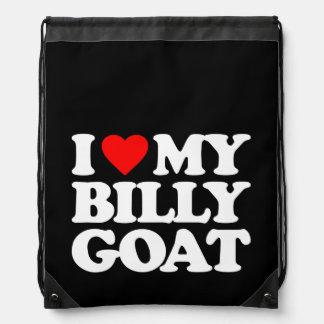 I LOVE MY BILLY GOAT DRAWSTRING BAG
