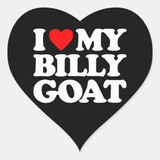 I LOVE MY BILLY GOAT HEART STICKER