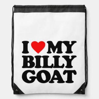 I LOVE MY BILLY GOAT DRAWSTRING BAGS