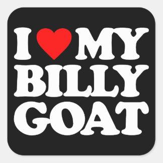 I LOVE MY BILLY GOAT SQUARE STICKER
