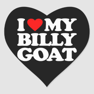 I LOVE MY BILLY GOAT HEART STICKERS