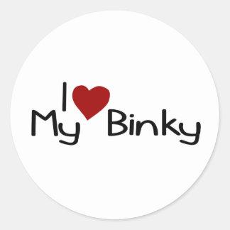 I Love My Binky Classic Round Sticker
