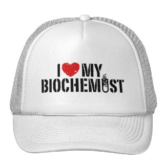 I Love My Biochemist Trucker Hat