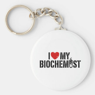 I Love My Biochemist Key Chains