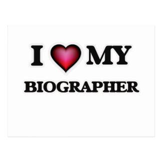 I love my Biographer Postcard