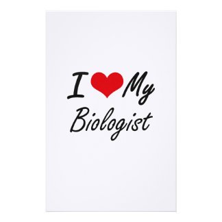I love my Biologist Stationery