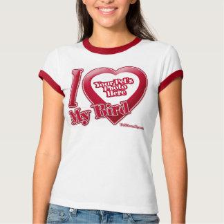 I Love My Bird - Photo T-Shirt