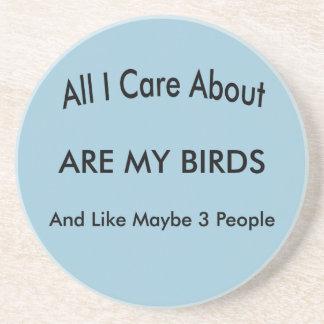 I Love My Birds Beverage Coasters