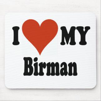 I Love My Birman Cat Merchandise Mouse Pad