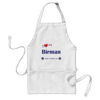 I Love My Birman (Male Cat) Adult Apron