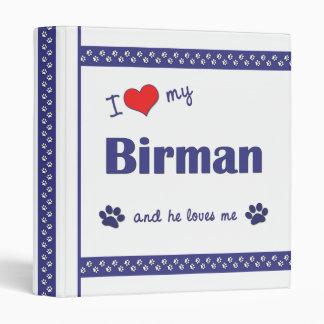 I Love My Birman (Male Cat) Binder