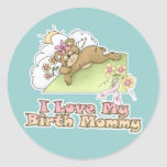 I Love My Birth Mommy Classic Round Sticker