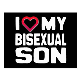 I LOVE MY BISEXUAL SON - -.png Post Card