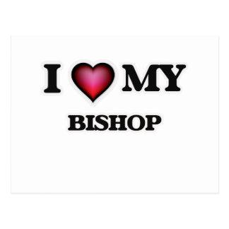 I love my Bishop Postcard