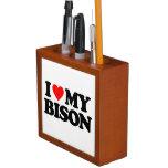 I LOVE MY BISON Pencil/Pen HOLDER