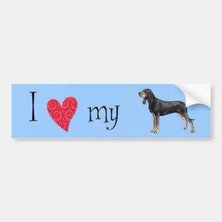I Love my Black and Tan Coonhound Bumper Sticker