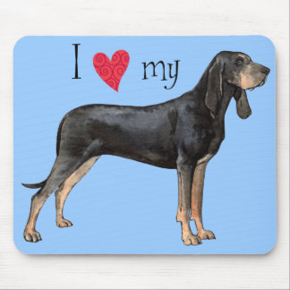 I Love my Black and Tan Coonhound Mouse Pad