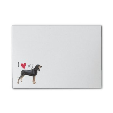 Valentines Themed I Love my Black and Tan Coonhound Post-it Notes
