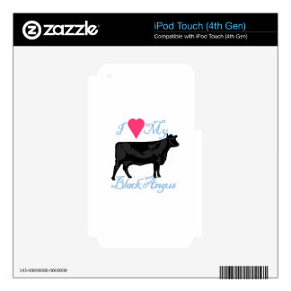 I Love My Black Angus iPod Touch 4G Skins