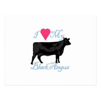 I Love My Black Angus Postcard