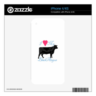 I Love My Black Angus Skins For The iPhone 4
