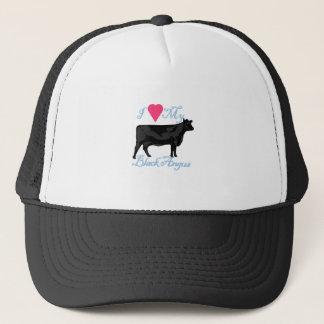 I Love My Black Angus Trucker Hat