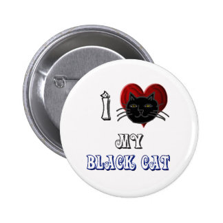i love my black cat pins