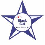I Love My Black Cat (Male Cat) Cut Outs