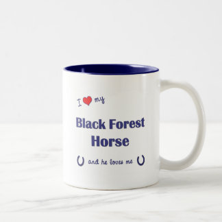 I Love My Black Forest Horse (Male Horse) Two-Tone Coffee Mug