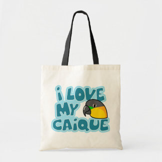 I Love My Black Headed Caique Bag