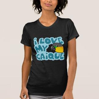 I Love My Black Headed Caique Ladies Twofer Shirt