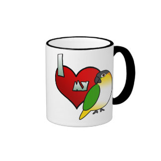 I Love my Black Headed Caique Mug