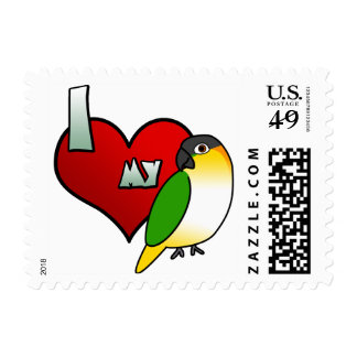 I Love my Black Headed Caique Stamps