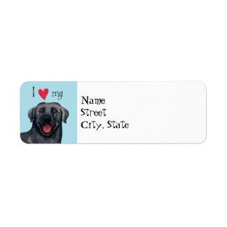 I Love my Black Lab Return Address Labels