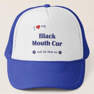 I Love My Black Mouth Cur (Female Dog) Trucker Hat