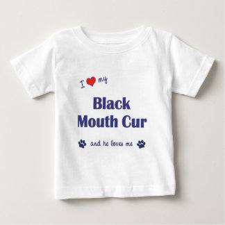 I Love My Black Mouth Cur (Male Dog) Baby T-Shirt