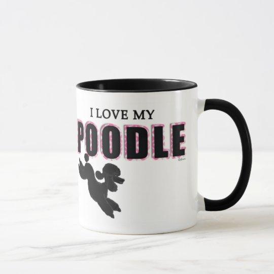 I Love My Black Poodle Mug