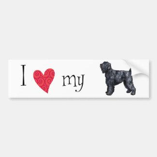 I Love my Black Russian Terrier Bumper Sticker