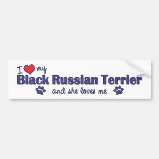 I Love My Black Russian Terrier (Female Dog) Bumper Stickers