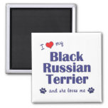 I Love My Black Russian Terrier (Female Dog) Magnet