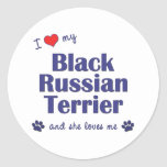 I Love My Black Russian Terrier (Female Dog) Sticker