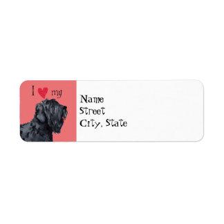 I Love my Black Russian Terrier Label