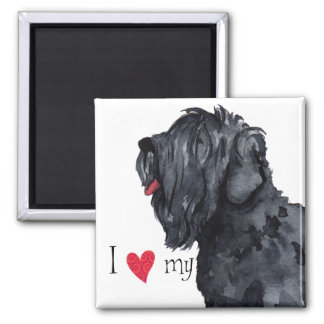 I Love my Black Russian Terrier Magnet