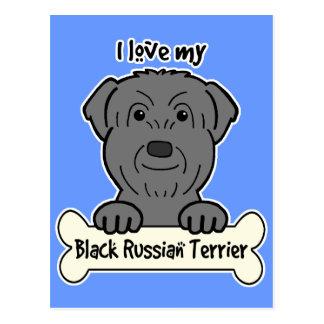 I Love My Black Russian Terrier Postcard