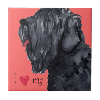 I Love my Black Russian Terrier Tile