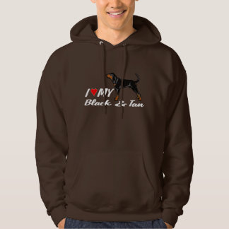 I love my black & tan coonhound hoodie shirt