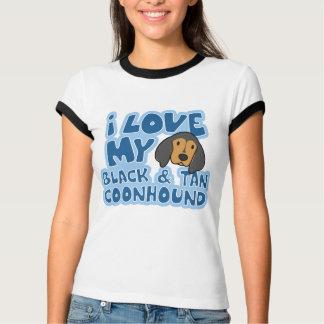I Love My Black & Tan Coonhound Ladies Ringer Tee