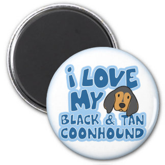 I Love My Black & Tan Coonhound Magnet