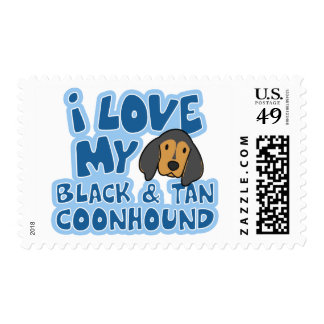 I Love My Black & Tan Coonhound Stamps