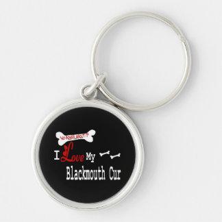 I Love My Blackmouth Cur Keychain